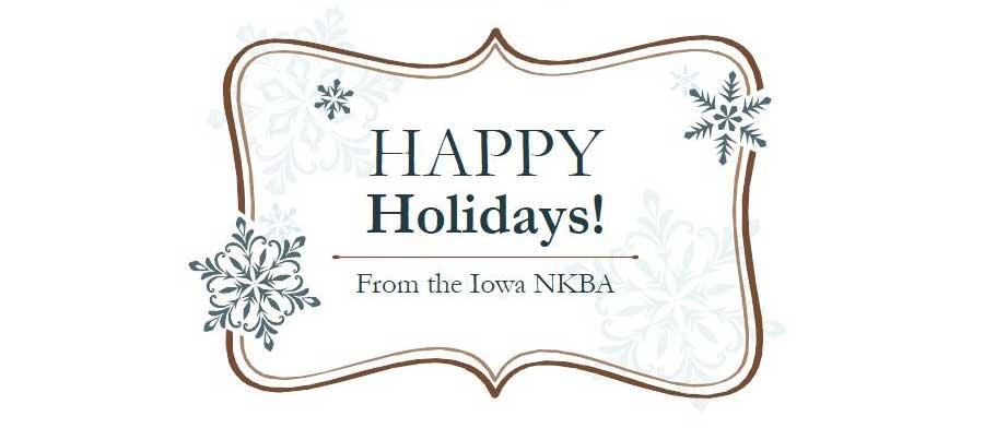 Happy Holidays from the Iowa NKBA!